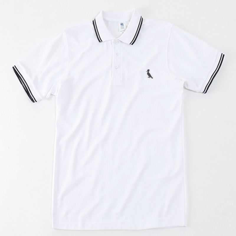 Dudalina New   Polo   Shirts Men Brand Reserved Blusas Men Short Sleeve stripe Cotton Camisa   Polo   Homens Embroidery bird logo   polo