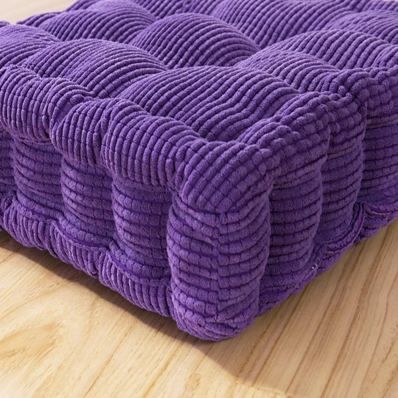Thicken Corduroy Chair Cushion Pad Meditation Cushion Cotton Floor Pillow Car Seat Heightening Mat Office Chair Cushions Padded