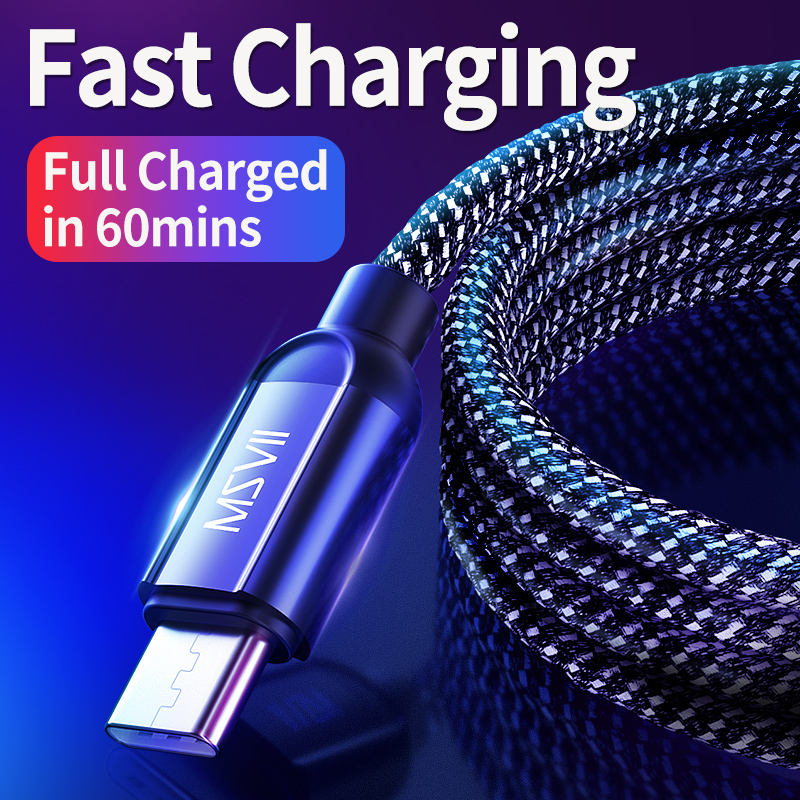 MSVII USB Type C Cable Usb Fast Charging usb Type-c Cable for Samsung Reversible Mobile Phone Cables for Xiaomi for Huawei USB C