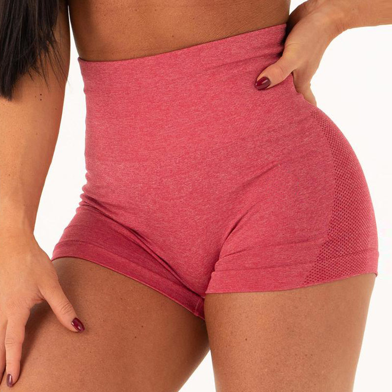 High waist seamless gym shorts fitness yoga short scrunch butt yoga shorts spandex pink short workout legging 1