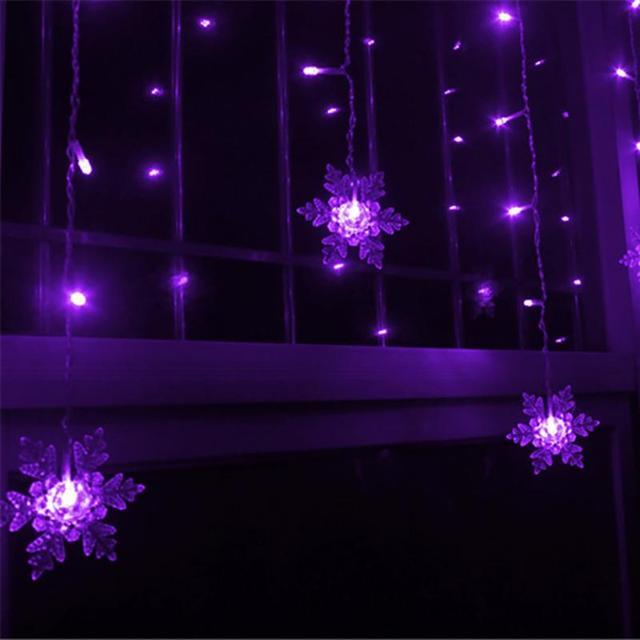 Purple Snowflake string lights 5c64f7bbf3956