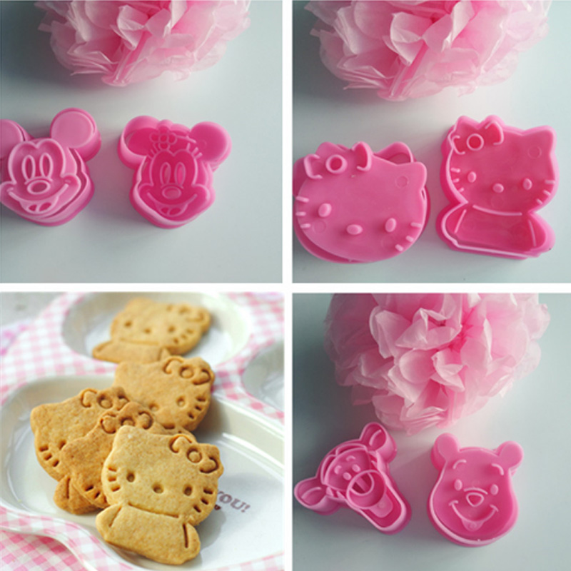 DIY Cartoon Cat Shape Cookie Cutters Fondant Sugar Craft Cutter Mould Set jian