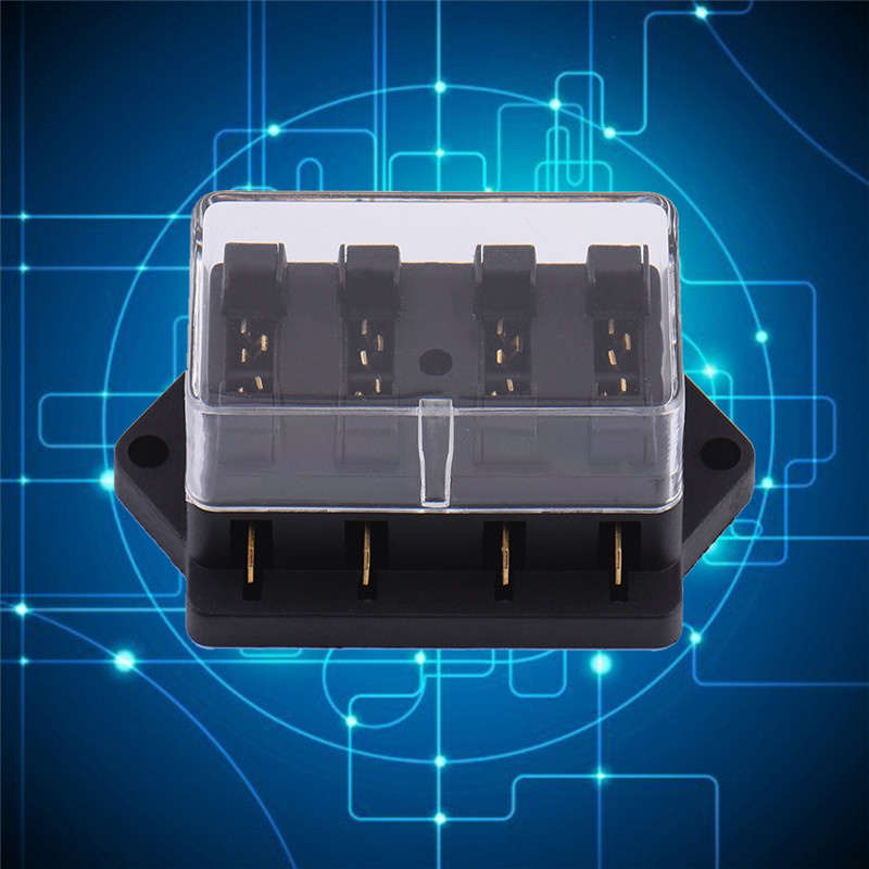 online get cheap hot fuse box com alibaba group high quality 12v 24v 4 way car truck auto blade fuse box holder circuit standard