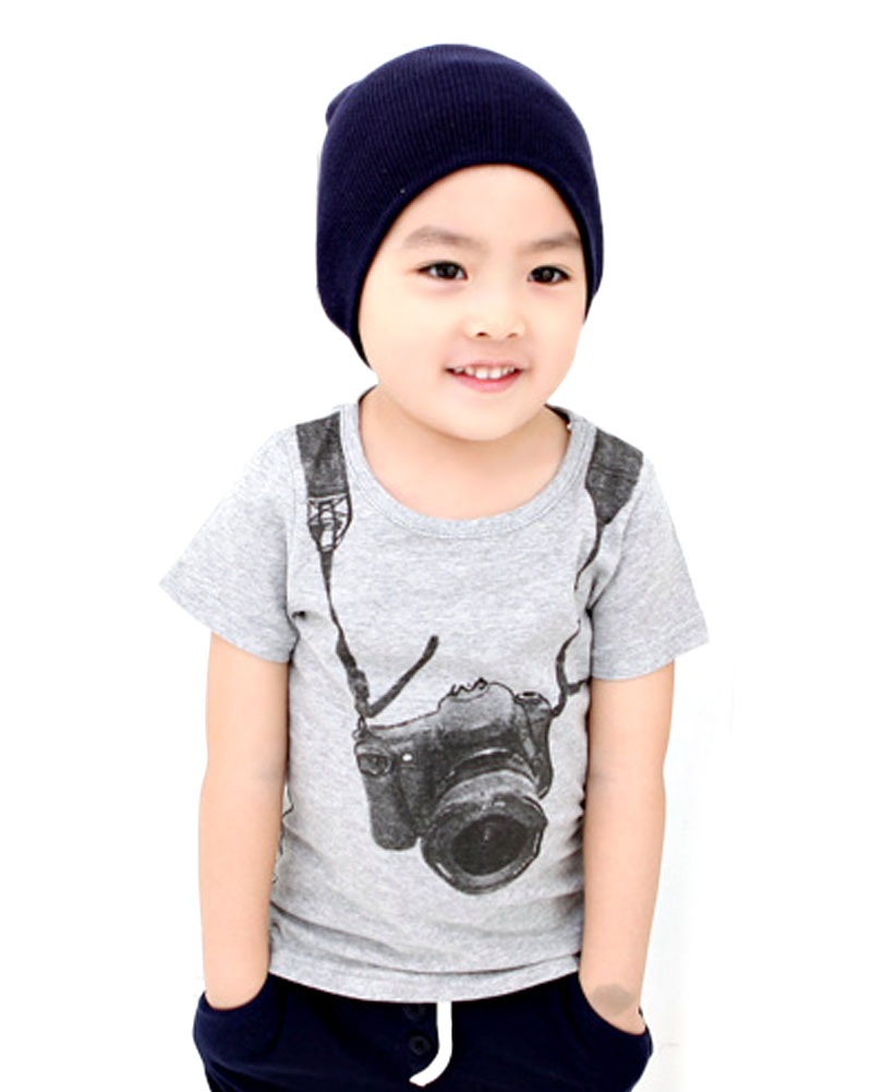 Toddler Baby Boys Summer Casual T-Shirt Camera Print T-Shirt Tops Short Sleeve