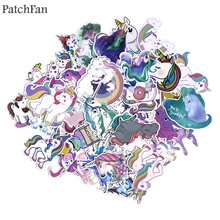 Patchfan 50pcs Colorful cartoon horse Creative DIY decorative stickers Cartoon for PC wall notebook phone scrapbooking A1385