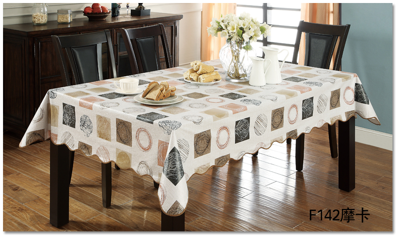 Flannel Backed Vinyl PVC Tablecloth Plastic Waterproof Table Cloth Spread  Cover Rectangular Square Round 106 265cm 9 Sizes In Tablecloths From Home U0026  Garden ...