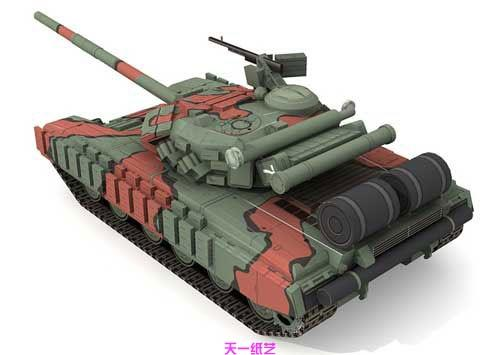Soviet Russian T64B Main Battle Tank Car Yizhi Handmade DIY Stereoscopic Paper Model Military Toy