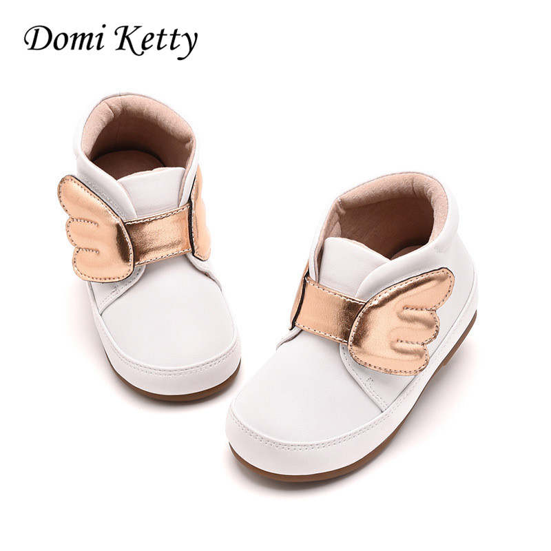 Domi Ketty girls princess boots children 2017 elegant wing warm shoes for baby soft sole toddler boots kids winter leather shoe