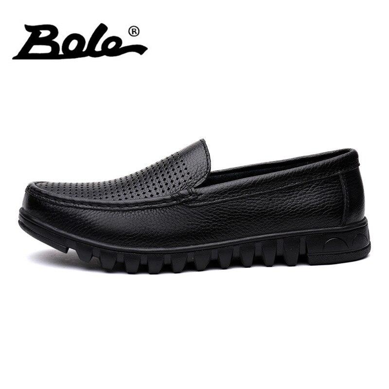 De Bole Homens Barco Preto Verão Sapatos Dropshipping Condução Novos Flats Deslizamento Casuais Microfibra Feetwear marrom Sapatas Couro Em Respirável rqxftndwrY