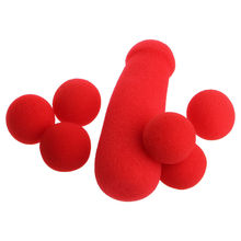 2017 1Set/4Pcs Red Sponge Balls Small Brother Funny Stage Prop Magic Tricks Toys