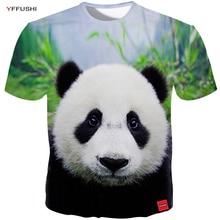 YFFUSHI 2018 Male/Female 3D Cute Panda 3d Print Summer Cool T-shirt Hip Hop Thin tshirt High Quality Male Tee Plus Size 5XL