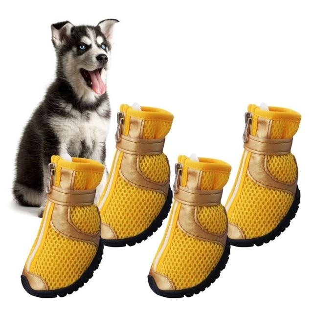 c2c06027efb US $7.1 25% OFF|Aliexpress.com : Buy 4Pcs/Sets Anti Slip Mesh Breathable  Dog Shoes Spring Summer Medium Large Dog Shoe Paw Protectors Supplies Pet  ...