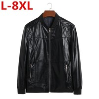 high quality new Plus size 8XL 7XL 6XL Men jacket Casual Coats Autumn winter Leather Clothing Bomber college Male pu jackets