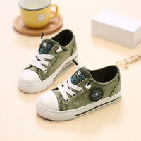 New Lace up Cool Jean patch children shoes 2017 high quality casual kids sneakers fashion lace up baby girls boys shoes