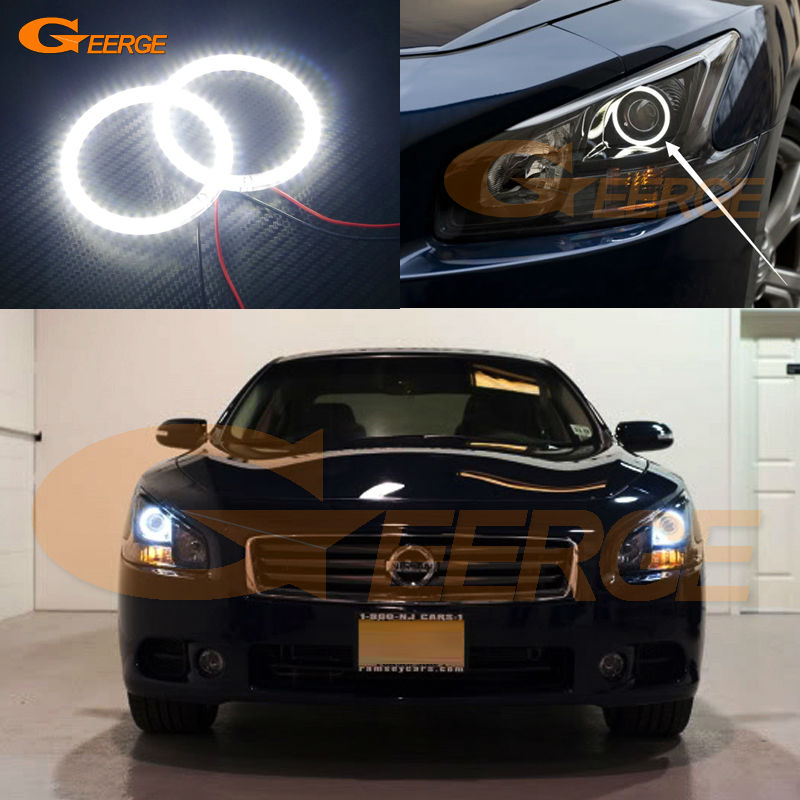 For Nissan Maxima 2009 2010 2011 2012 2013 2014 Excellent Angel Eyes Ultra bright illumination smd led Angel Eyes Halo Ring kit for lifan 620 solano 2008 2009 2010 2012 2013 2014 excellent ultra bright illumination smd led angel eyes halo ring kit