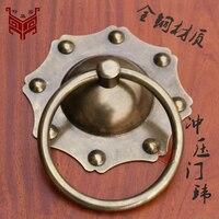 Chinese Antique Wood Door Handle Door Handle Door Glass Copper Lion Head Door Knocker Brass Copper