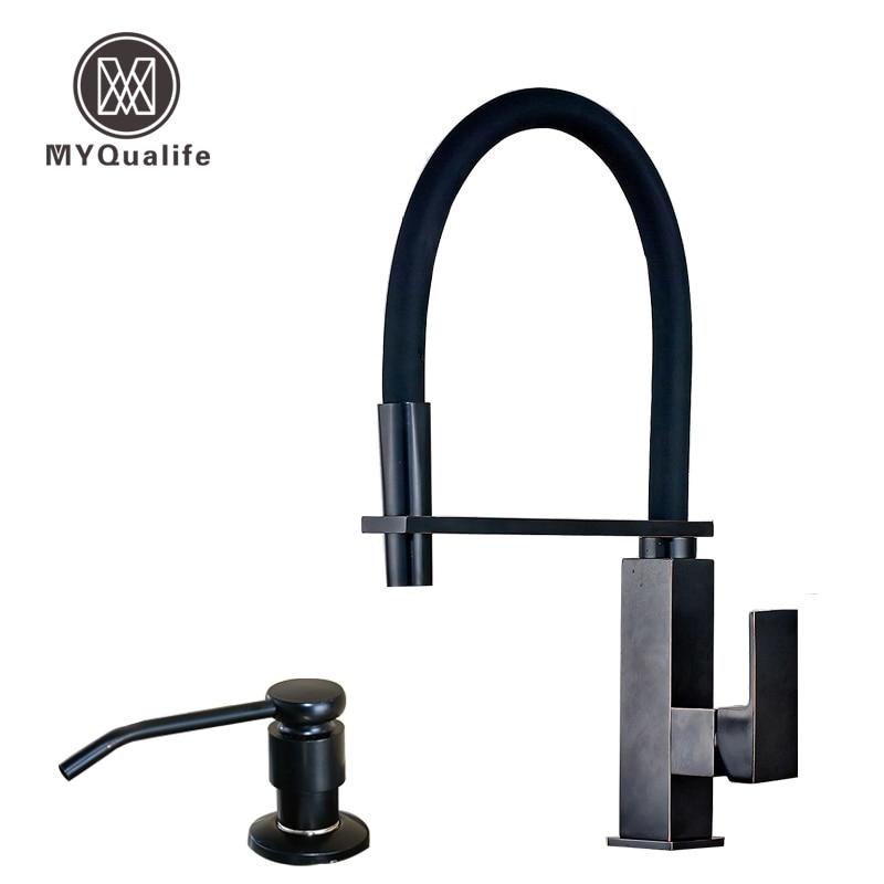 Kitchen Faucet U Bracket: Oil Rubbed Bronze Square Kitchen Faucet With Bracket Bar