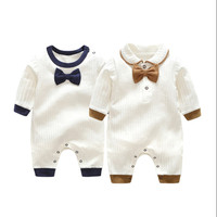2018 Brand New Fashion Newborn Toddler Infant Baby Boys Romper Long Sleeve Jumpsuit Playsuit Little Boy Outfits Black Clothes
