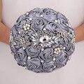 На Заказ Серый Искусственный Свадебные Цветы Свадебные Букеты Букет Buque Де Noiva Де Mariage Bruidsboeket Свадебный Букет 2017