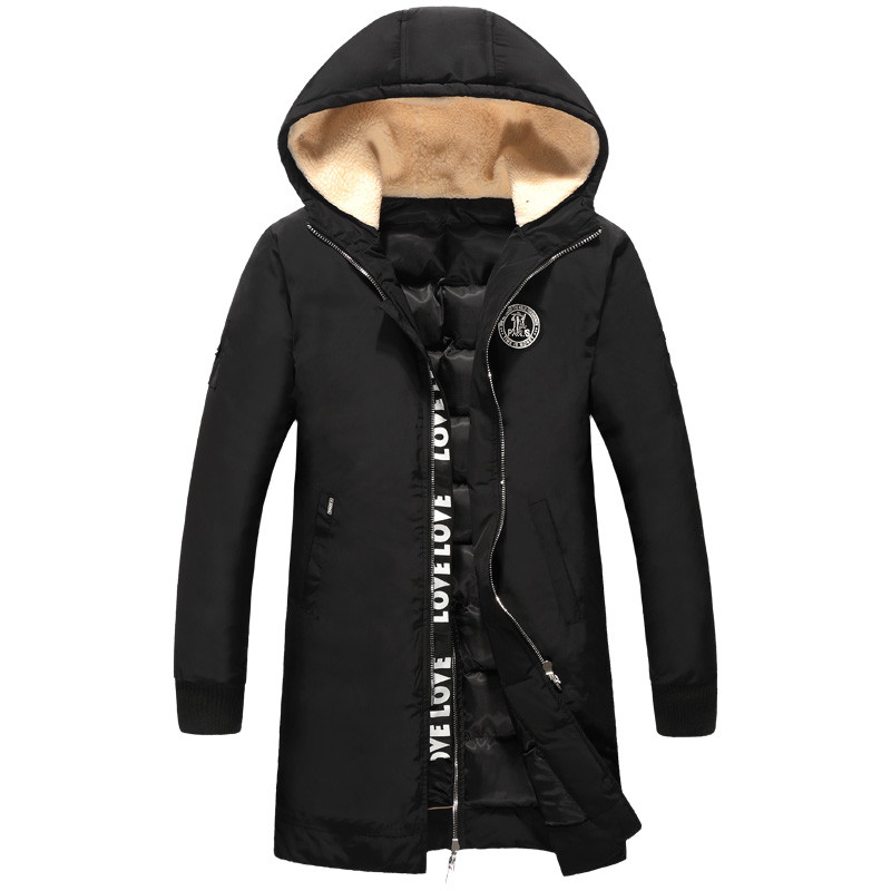 2016 winter new style Men s casual fashion hooded high quality jacket thick Parkas Men s