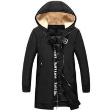 2016 зима новый стиль мужская вскользь с капюшоном куртки высокого качества толстые Ветровки мужские Зимние куртки, хлопка-ватник