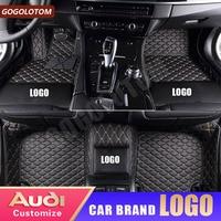 Custom Car Floor Mats Leather Waterproof for Audi Audi A1 A3 A4 A4L A5 A6 A6L A7 A8 A8L Q3 Q5 Q7 S4 S5 S8 b7 b8 b9 Auto carpets