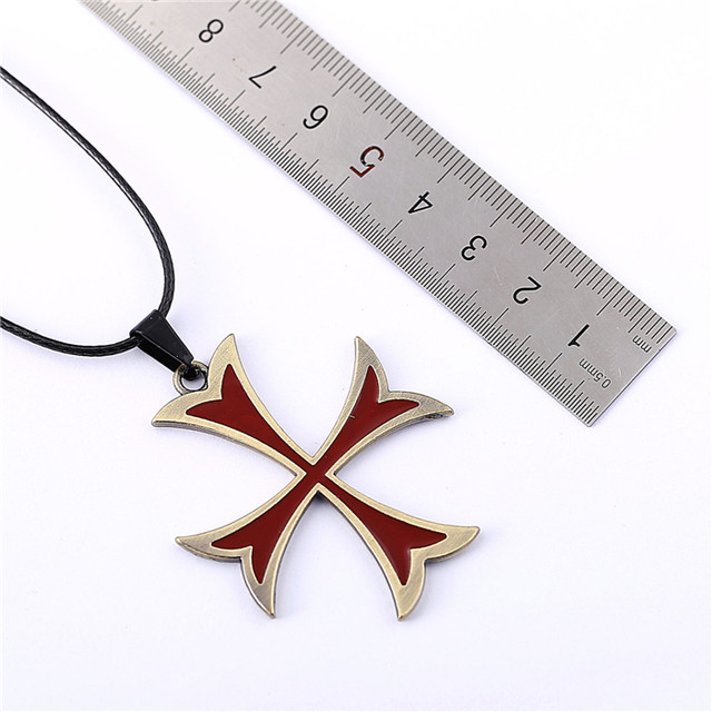 Online shop 10pcs assassins creed necklace templar cross pendant 10pcs assassins creed necklace templar cross pendant necklace friendship men women game jewelry choker accessories ys11323 aloadofball Image collections