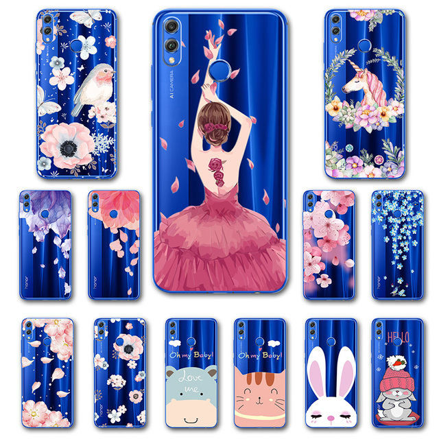 various colors 5e889 8f33f US $0.87 25% OFF|Phone Case For Huawei Honor 8X Case Lace 3D Relief  Silicone Cartoon Ballet Girl Y 9 2018 7X Mobile Back Cover For Huawei Y9  2019-in ...