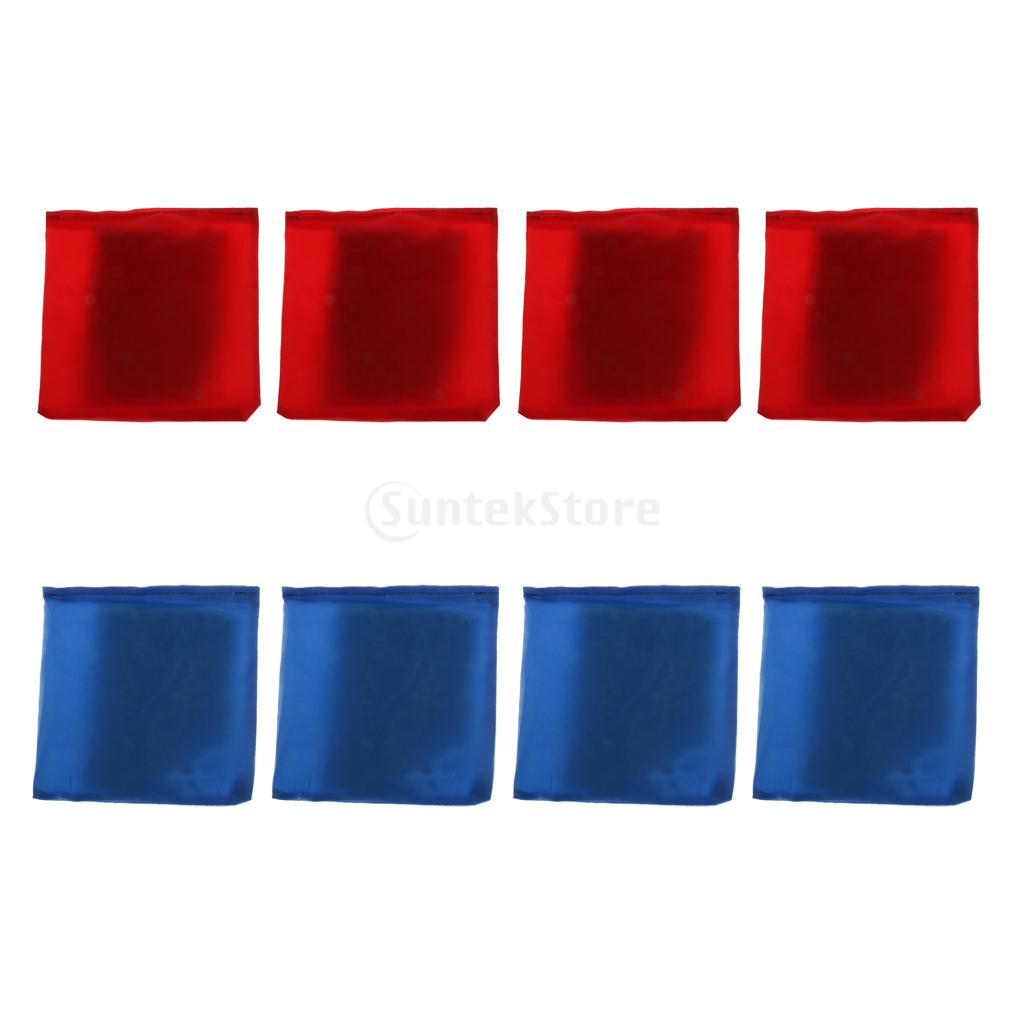 8pcs/set Blue & Red Cornhole Bag Bean Bag 10 X 10cm For Family Backyard Tossing Corn Hole Game