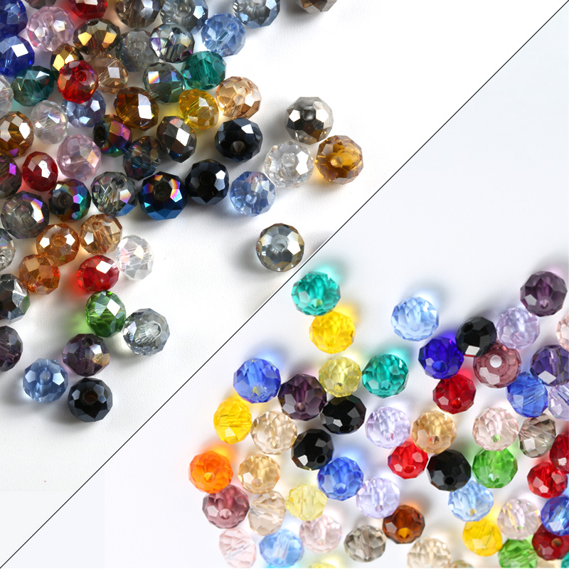 4mm-12mm mixed color Austria round crystal beads glass ball loose beads for Jewelry making DIY,Necklace bracelet accessories