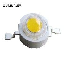 Бесплатная доставка 50 шт. 1 Вт 3 Вт высокой мощности Светодиодные лампы белый/теплый белый 30mil 45mil чипов высокой загорается