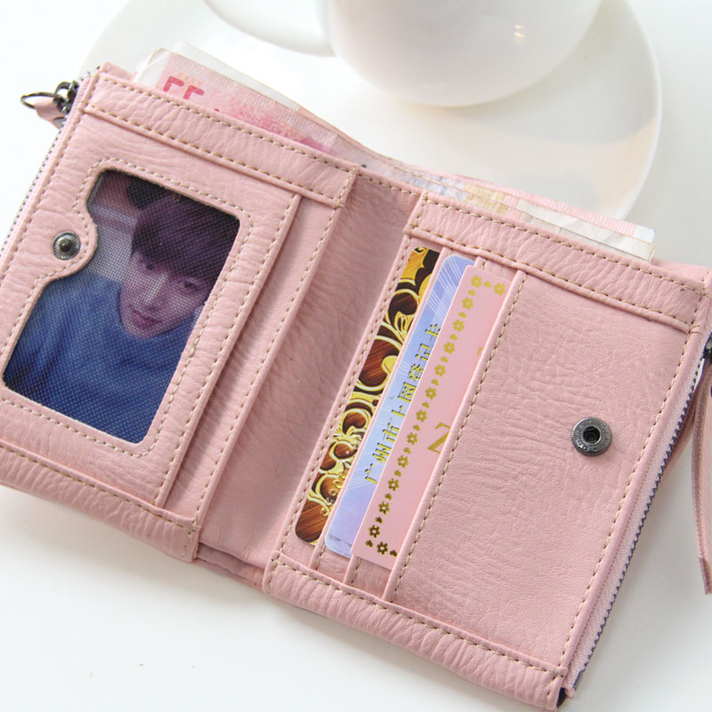 OTHERCHIC Women Woven Short Wallets Ladies Small Wallet Zipper Roomy Coin Pouch Female Card Wallet Purses Money Clip 6N04-18