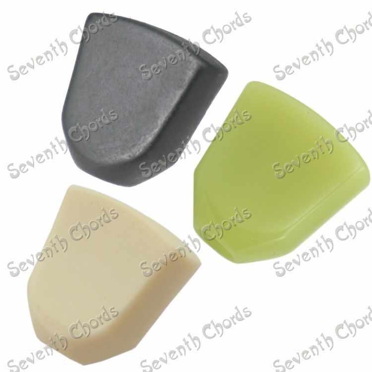 6 шт Нефритового зеленого цвета, в стиле ретро, в форме трапеции, Пластик гитары настроечный винт тюнеры Колки Замена кнопки ручка Кепки наконечник-3 цвета