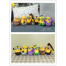 6pcs lot Minion Plush Stuffed Toys Doll Despicable Me Vampire Primitive Pirate 20cm 3D Eye Minions