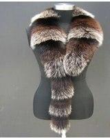 Шарфы и манишки моды натуральный Лисий мех воротник шарф планка большой меховой воротник мех лисы галстук в зимняя обувь для мужчин и женщи