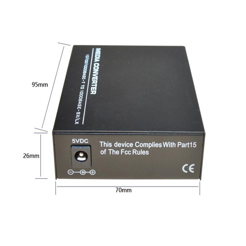Wysokiej jakości konwerter mediów Fast Ethernet SFP 10/100 / 1000M - Sprzęt komunikacyjny - Zdjęcie 3