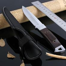 Outdoor Tactical Fixed Blade Knife Hunting Straight Knives Ebony Handle Men Boutique Necessary Camping Survival Rescue Tools