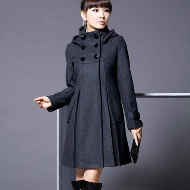05476b43d29 US $36.38  Fashion Ladies Hooded Winter Coat Parka Women Winter Furry  Jacket Woolen Fitted Thicken Long Coat Warm Outerwear Lapel Plus Size on ...