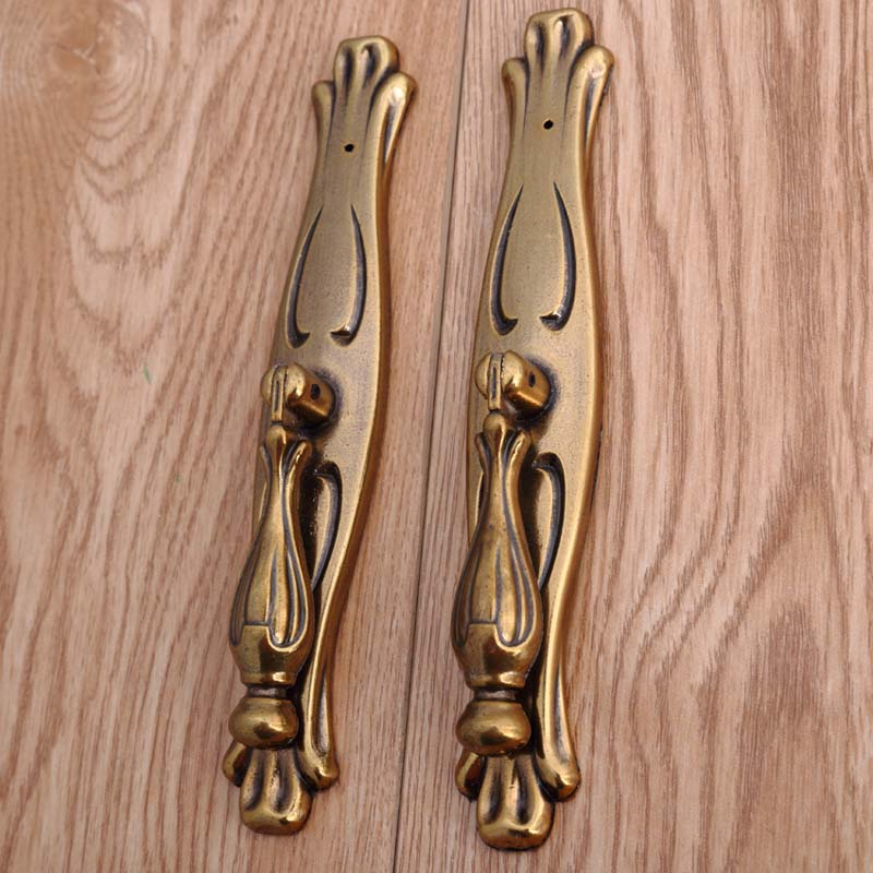 european antique gold wardrobe win cabinet door handles yellow antique brass dresser door pulls retro style