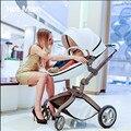 Высокое сиденье прогулочной коляски пейзаж высокой коляски Поворотный Качели малолитражного автомобиля свет коляска амортизаторы ребенок ребенок складные тележки