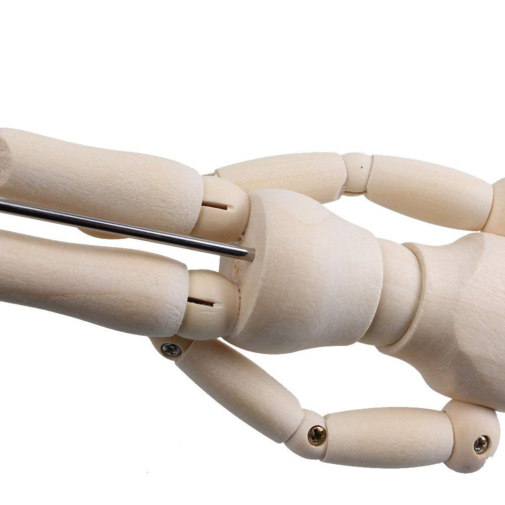 "3 x 12/"" Artists Wooden Manikin Male Figure Craft Moveable Adjustable Art Mannequ"