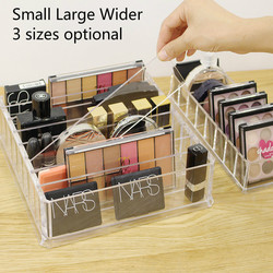 Standing Transparent Lipstick Holder Acrylic Organzier Makeup Containers for Powder/Eye Shadow/Nail Polish/Cosmetics Storage Box