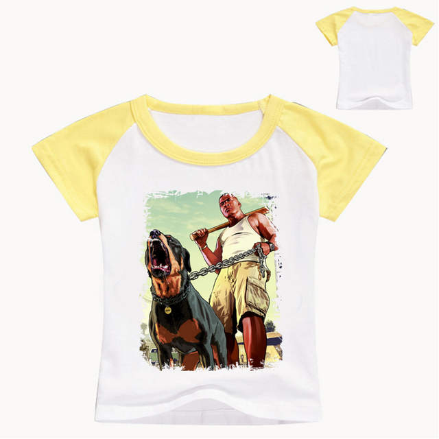 Z&Y 3-9Years Boys T-shirt 5 Gta V Poster Teenage Top Model Kids Clothes  Free Shipping Children Clothing Lilica Ripilica Infantil