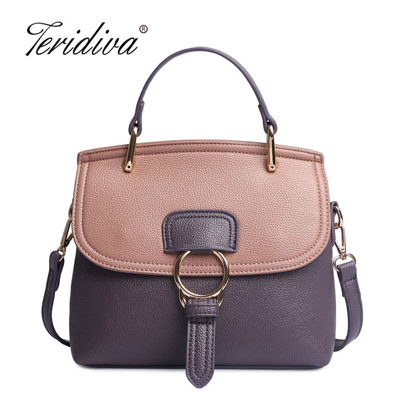 Teridiva Luxury Handbags Women Bags Designer Messenger Shoulder Bag Brand Ladies Crossbody Leather Bags Tote Bag Fashion Handbag giaevvi luxury handbags split leather tote women messenger bags 2017 brand design chain women shoulder bag crossbody for girls