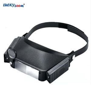 Black 3X Helmet Eyewear Magnif