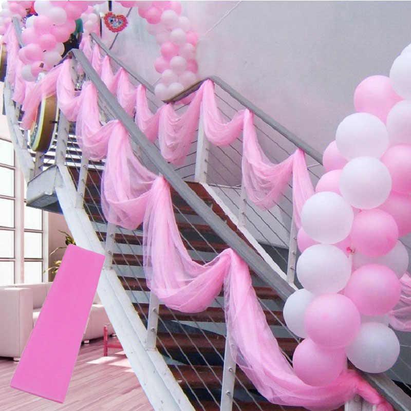 5 metros/lote cristal puro organza tul rollo tela para decoración para fiesta de boda organza silla fajas ancho 45cm