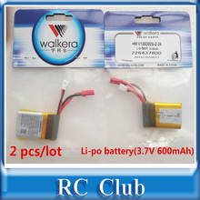 2 PCS Lot Original Battery Li po battery 3 7V 600mAh for Walkera QR W100S NEW