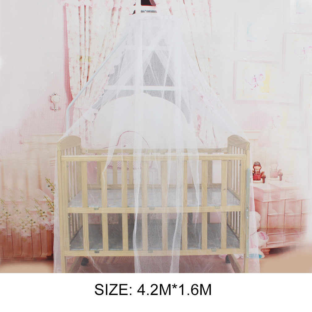 Summer Baby Bedding Crib Mosquito Net Portable Size Round Toddler Baby Bed Mosquito Mesh Hung Dome Curtain Net