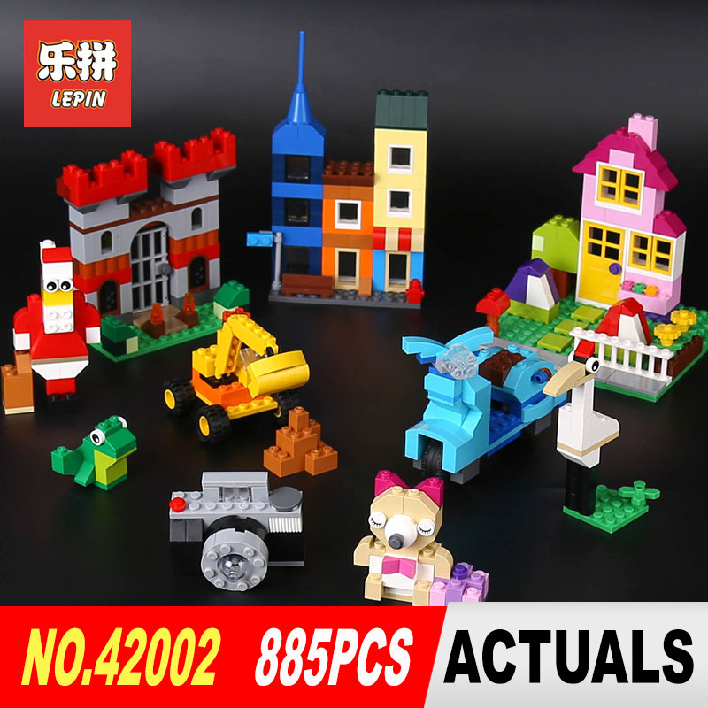 Lepin 42002 Genuine 885Pcs Creative Series The Big Box Builing Blocks Bricks DIY Toy Model for Children Gifts LegoINGlys 10698 степлер мебельный со скобами sparta 42002