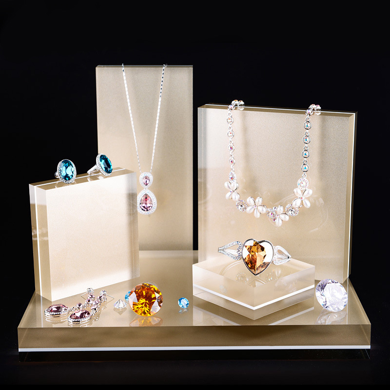 Jewellery Exhibition Stand : Acrylic jewelry set display shelf necklace ring earing